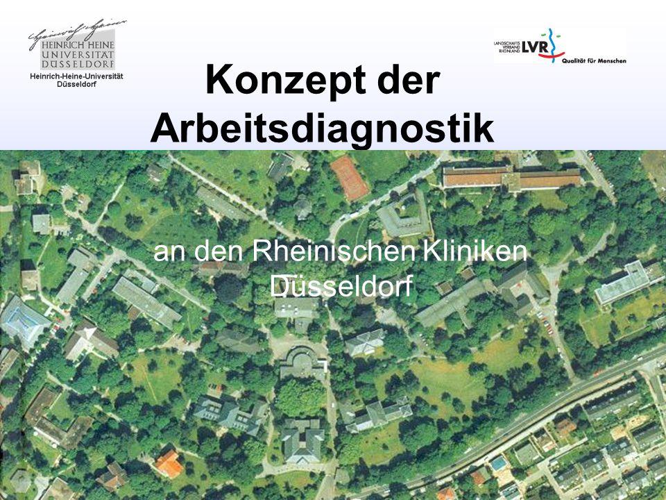 Konzept der Arbeitsdiagnostik an den Rheinischen Kliniken Düsseldorf