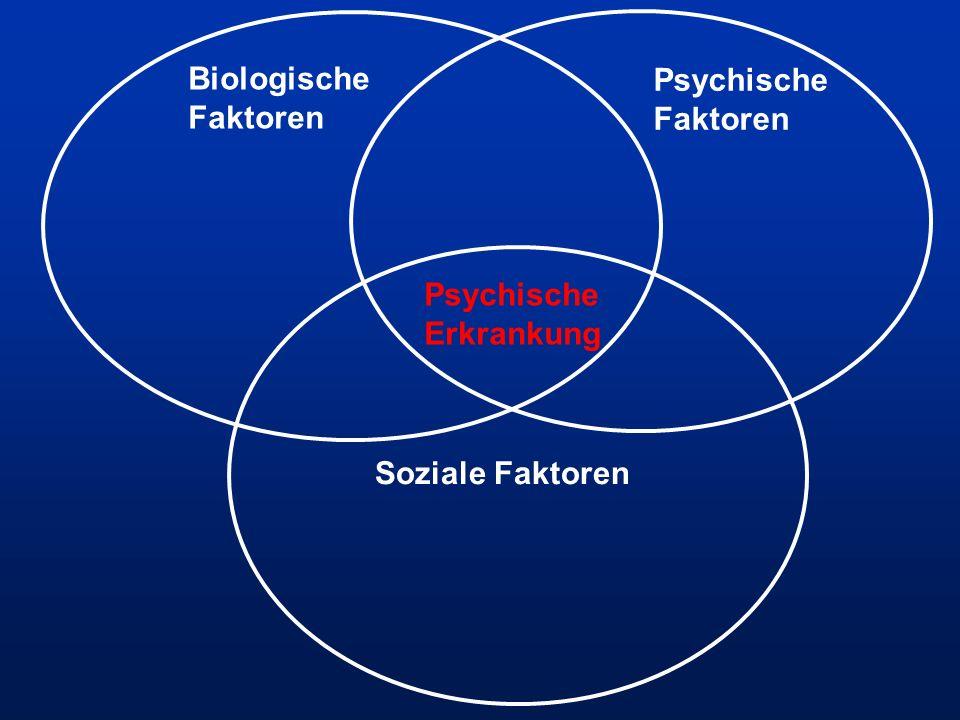 Psychische Erkrankung Biologische Faktoren Psychische Faktoren Soziale Faktoren