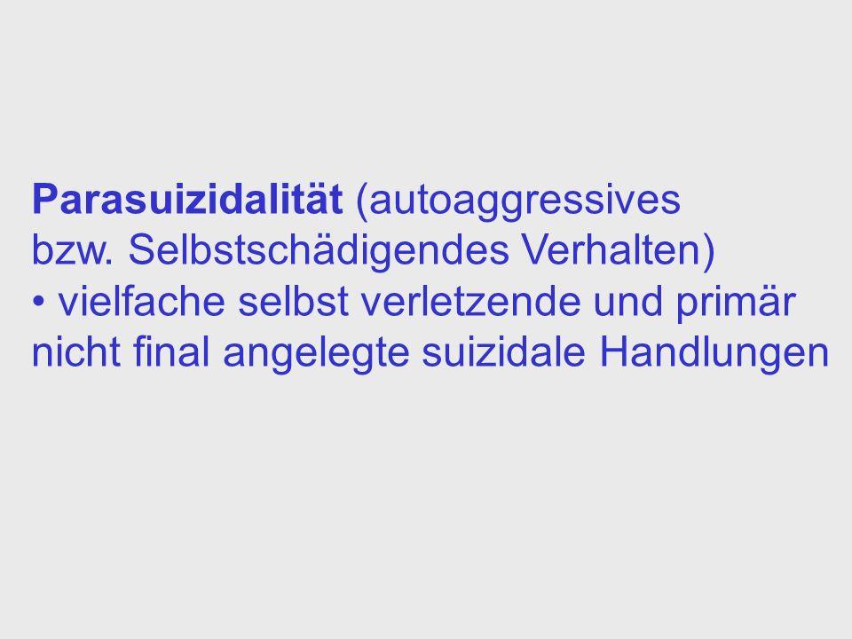 Parasuizidalität (autoaggressives bzw.