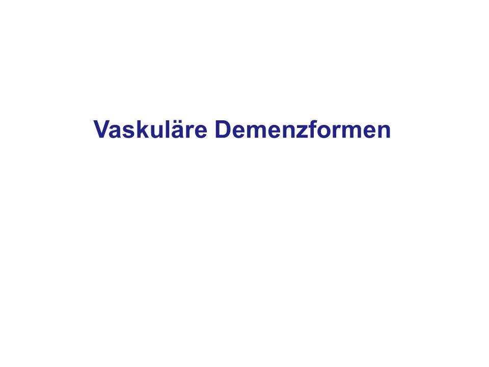 Vaskuläre Demenzformen