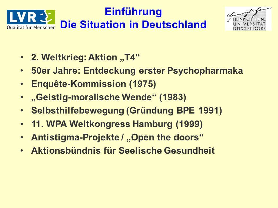 Einführung Die Situation in Deutschland 2.