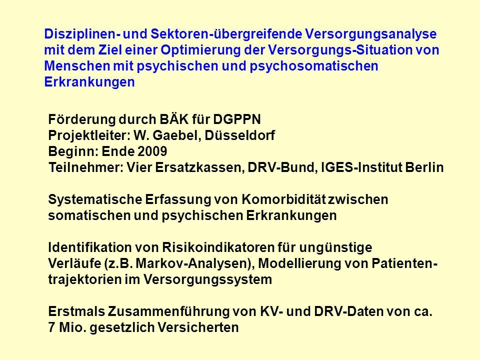 Disziplinen- und Sektoren-übergreifende Versorgungsanalyse mit dem Ziel einer Optimierung der Versorgungs-Situation von Menschen mit psychischen und p