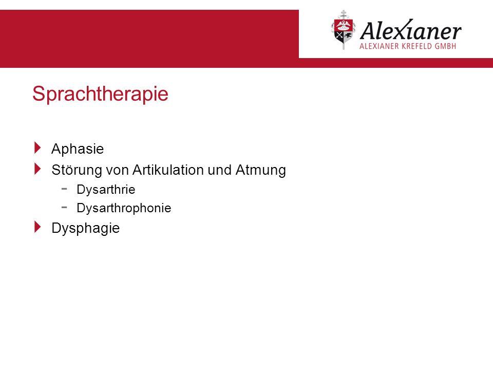 Sprachtherapie Aphasie Störung von Artikulation und Atmung - Dysarthrie - Dysarthrophonie Dysphagie