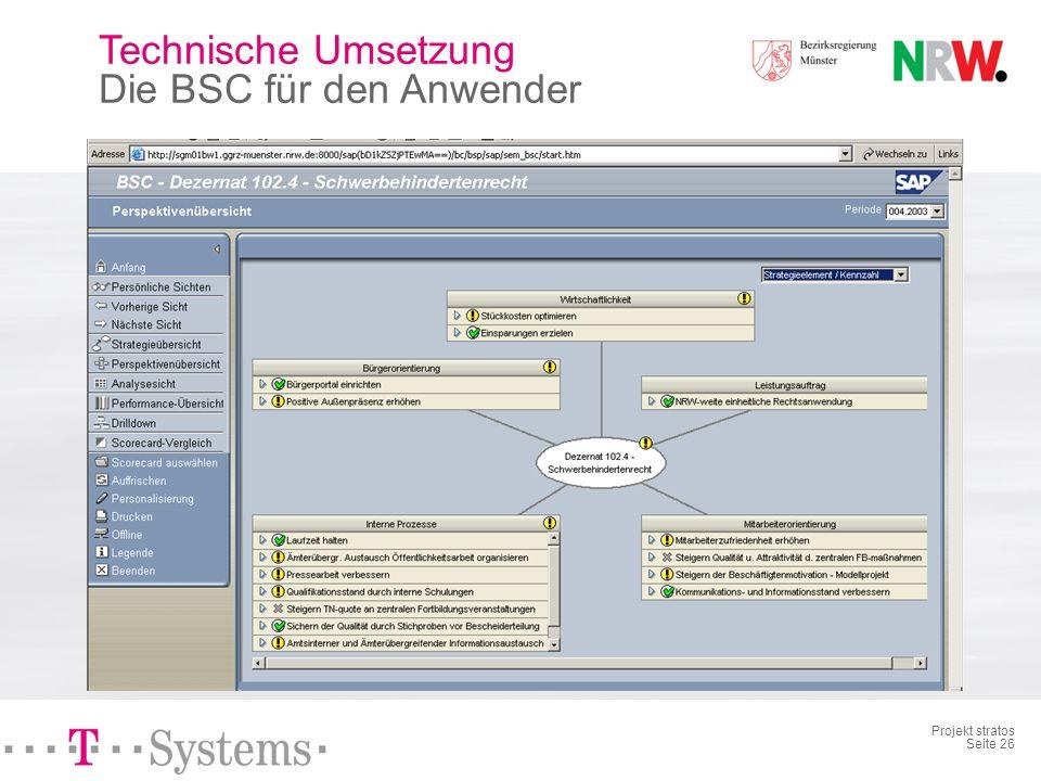 Projekt stratos Seite 25 Technische Umsetzung mySAP.ERP