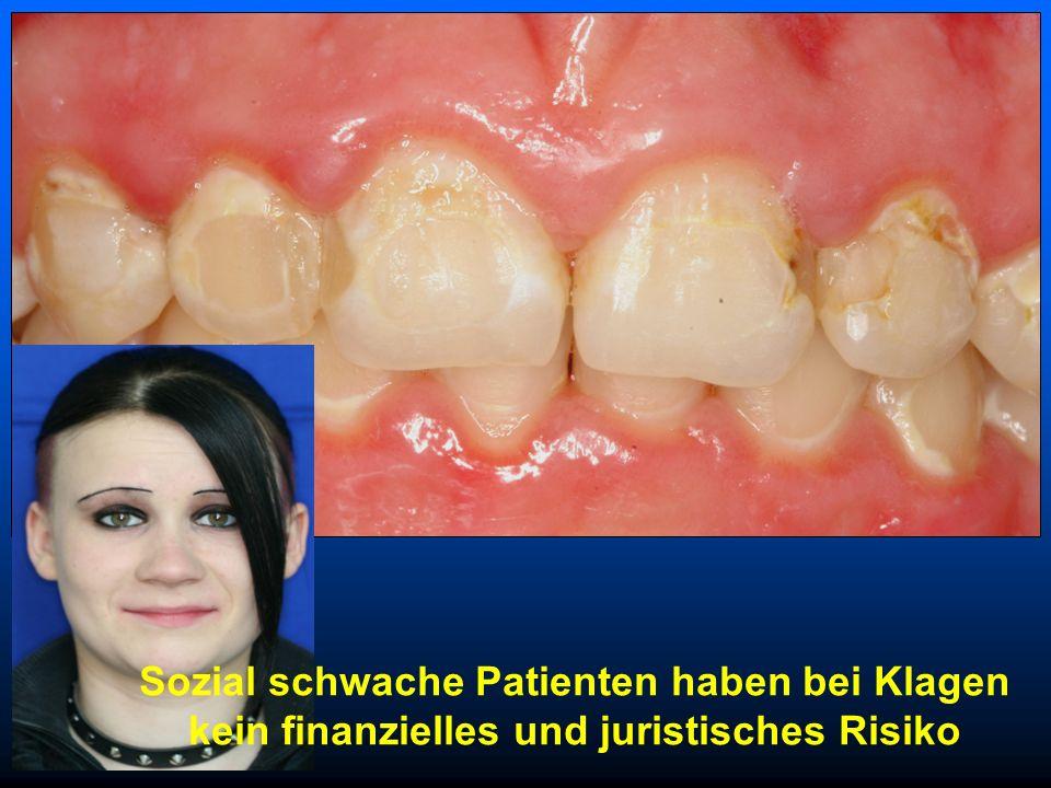Forensik – Fragen Antwort Variante c Ablehnung der Behandlung eines GKV - Patienten ohne Mundhygieneprogramm zulässig ? Zahnärzte: Diagnosen Indikatio