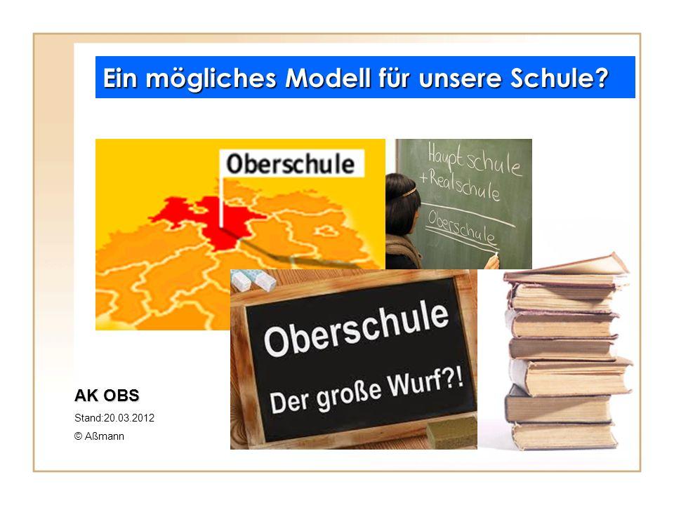 Ein mögliches Modell für unsere Schule? AK OBS Stand:20.03.2012 © Aßmann