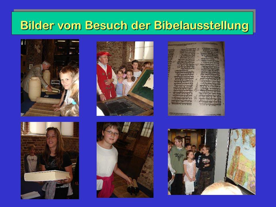 Bilder vom Besuch der Bibelausstellung