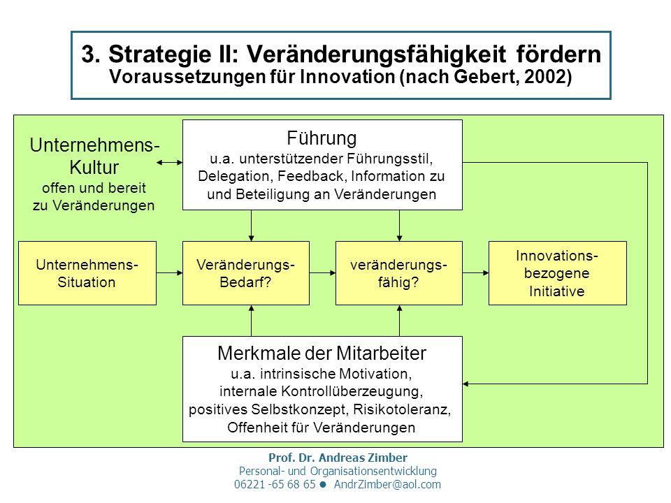 Prof. Dr. Andreas Zimber Personal- und Organisationsentwicklung 06221 -65 68 65 AndrZimber@aol.com 3. Strategie II: Veränderungsfähigkeit fördern Vora