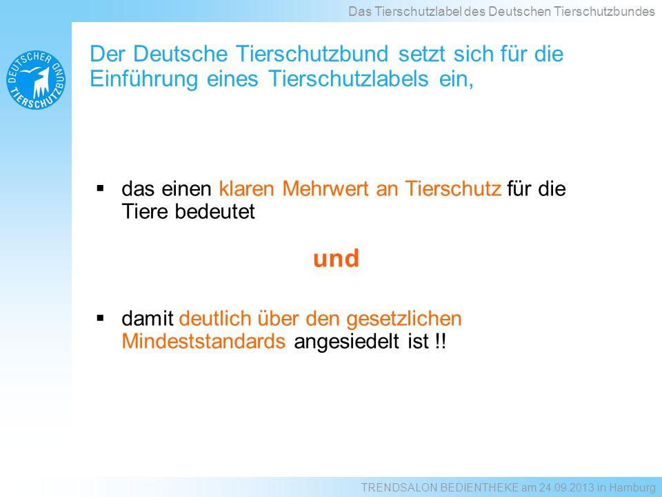 Beide Labelstufen: Strukturierung der Bucht Schwänze kürzen verboten (Übergansfrist max.