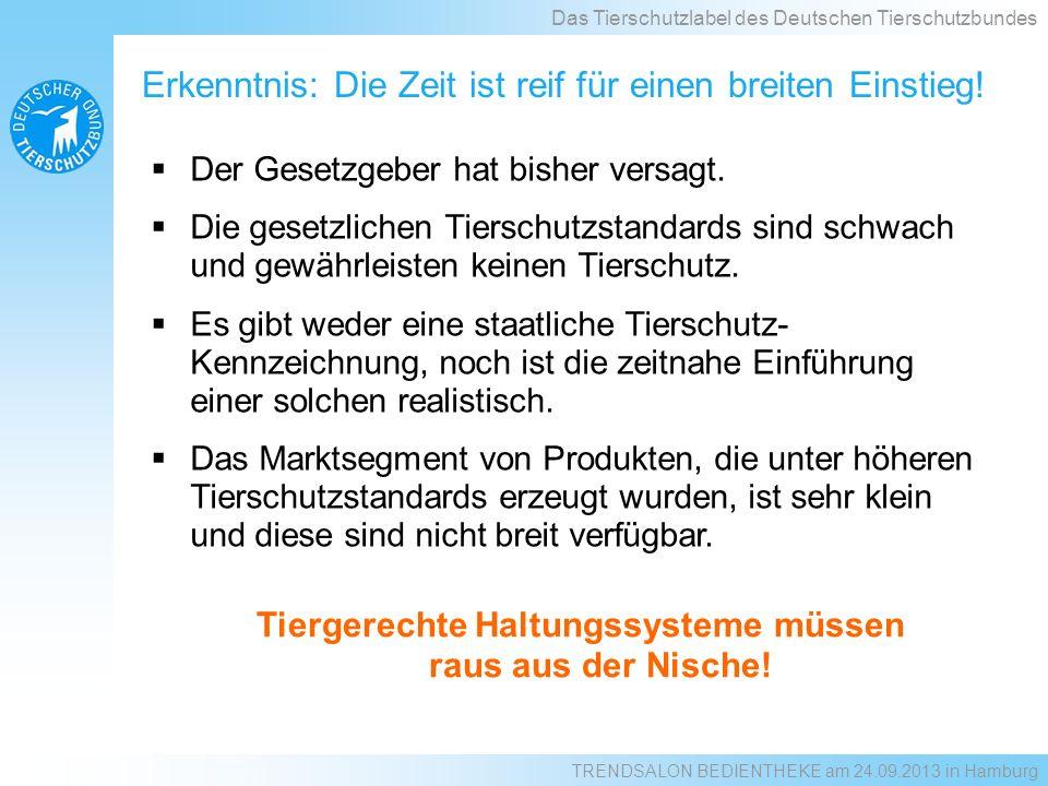 Das Label des Deutschen Tierschutzbundes www.tierschutzlabel.info Das Tierschutzlabel des Deutschen Tierschutzbundes TRENDSALON BEDIENTHEKE am 24.09.2013 in Hamburg
