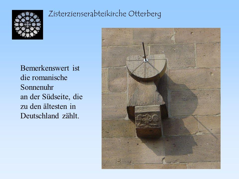 Zisterzienserabteikirche Otterberg Zudem finden wir noch Rundfenster an jeder Nord- und Südseite des Querhauses, mit den ebenfalls typischen Bogenfriesen, die das ganze Kirchengebäude umschließen.