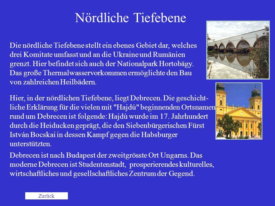 Nördliche Tiefebene Debrecen ist nach Budapest der zweitgrösste Ort Ungarns. Das moderne Debrecen ist Studentenstadt, prosperierendes kulturelles, wir
