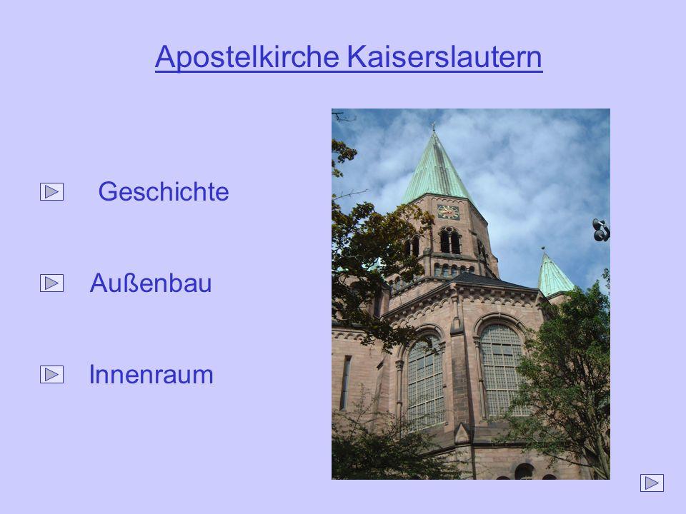 Apostelkirche Kaiserslautern Geschichtete Außenbau Innenraum