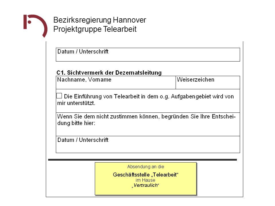 Bezirksregierung Hannover Projektgruppe Telearbeit