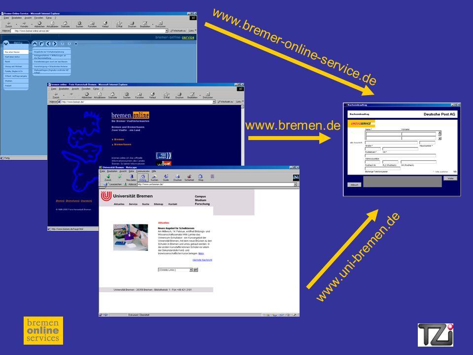 www.bremer-online-service.de www.bremen.de www.uni-bremen.de