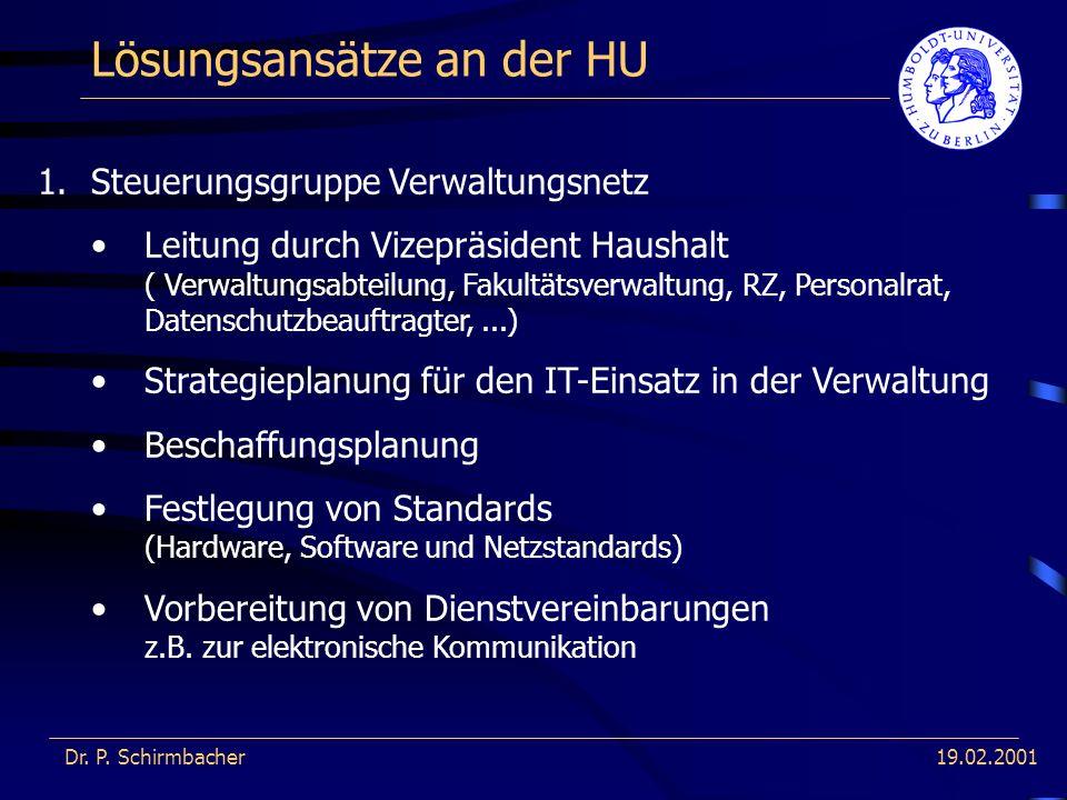 19.02.2001 Lösungsansätze an der HU Dr.P. Schirmbacher 2.??.