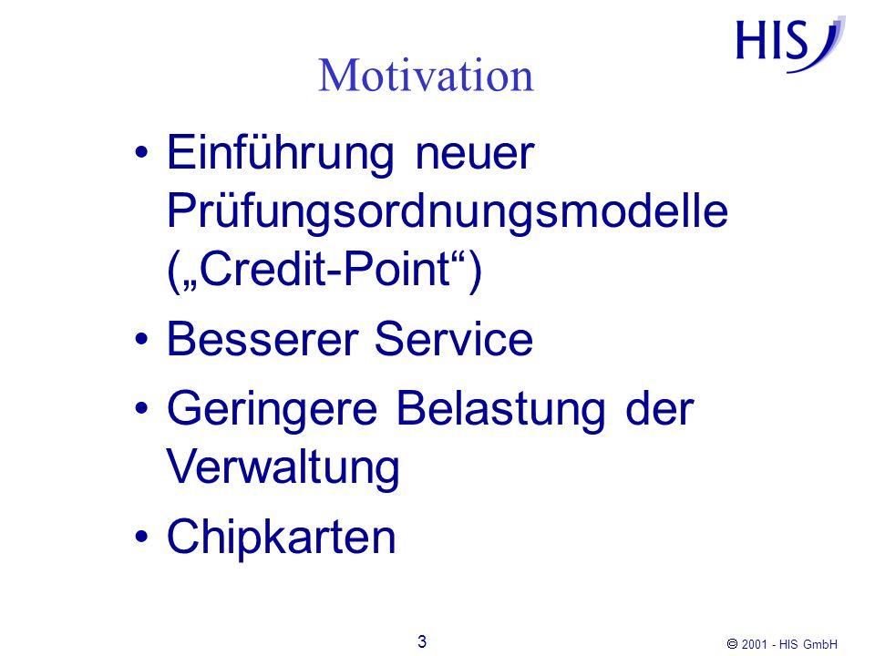 2001 - HIS GmbH 4 intuitiv bedienbar umfassend zugänglich (zeitlich, örtlich) funktional flexibel (konfigurierbar) sicher Anforderungen