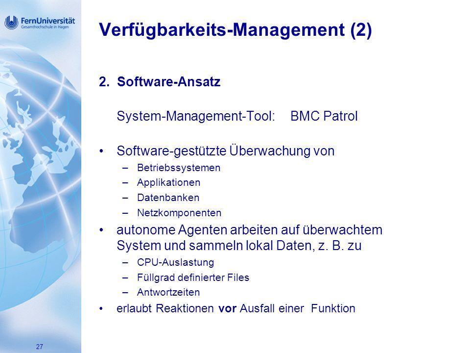 27 Verfügbarkeits-Management (2) 2.