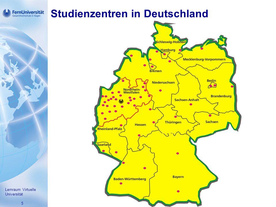 5 Studienzentren in Deutschland Lernraum Virtuelle Universität