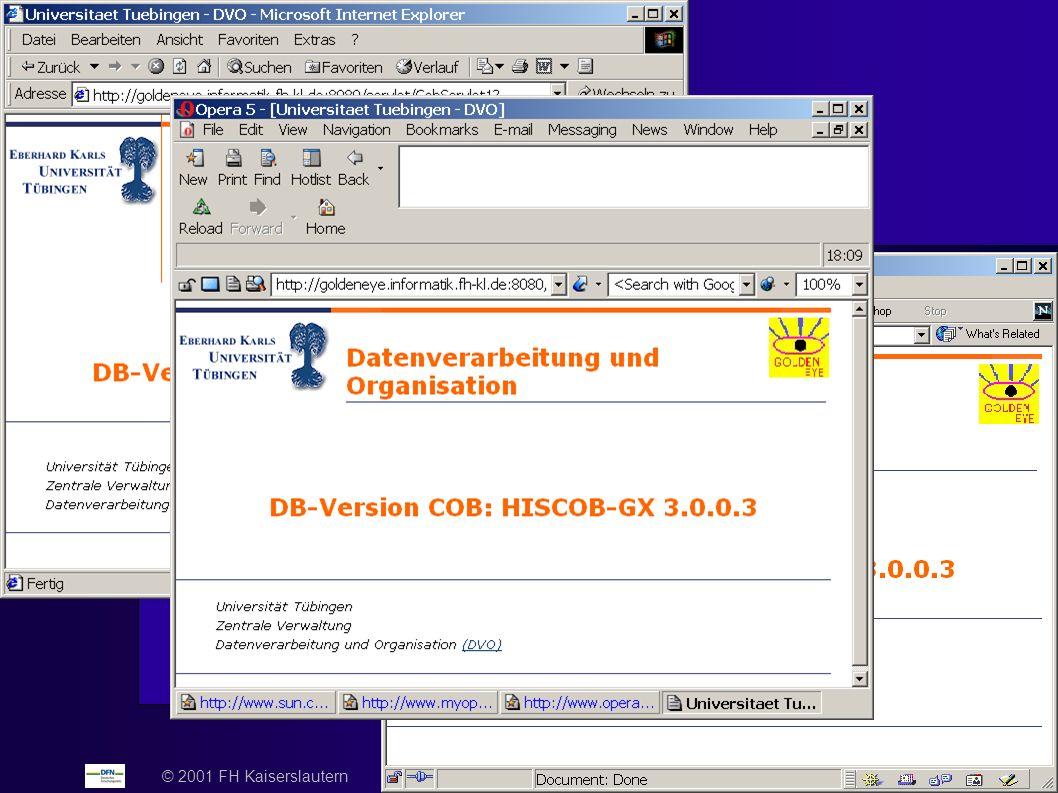 © 2001 FH Kaiserslautern DFN-Nutzergruppentagung Hochschulverwaltung 2001 - Folie 22
