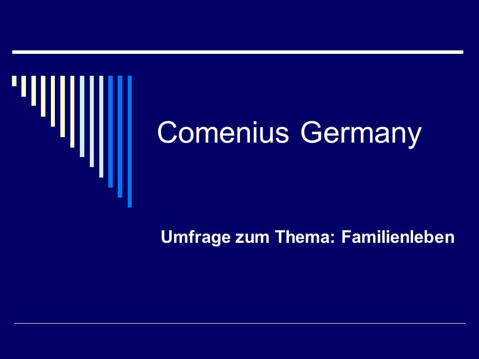 Comenius Germany Umfrage zum Thema: Familienleben