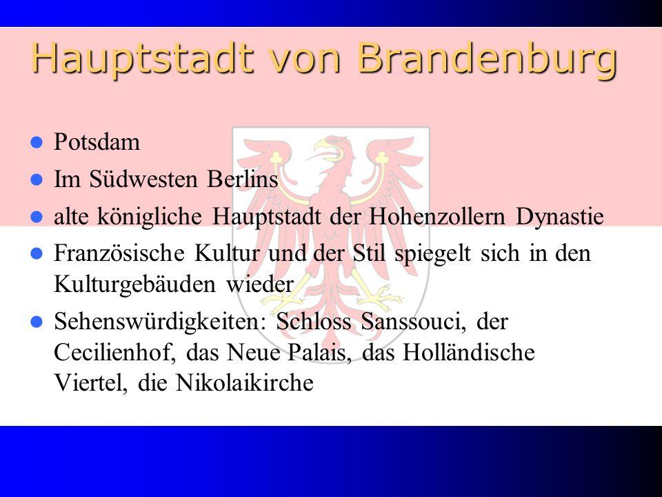 Hauptstadt von Brandenburg Potsdam Im Südwesten Berlins alte königliche Hauptstadt der Hohenzollern Dynastie Französische Kultur und der Stil spiegelt