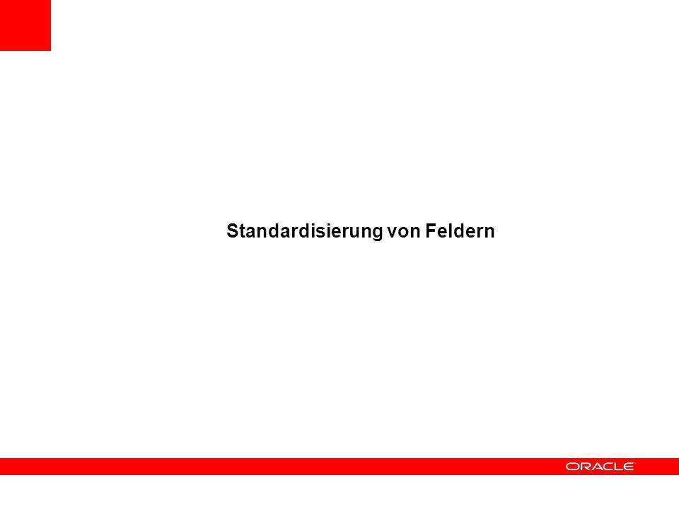 Standardisierung von Feldern