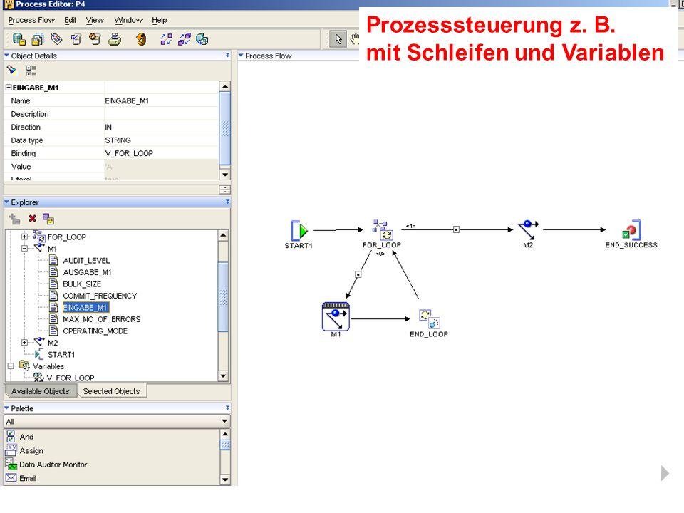 Prozesssteuerung z. B. mit Schleifen und Variablen