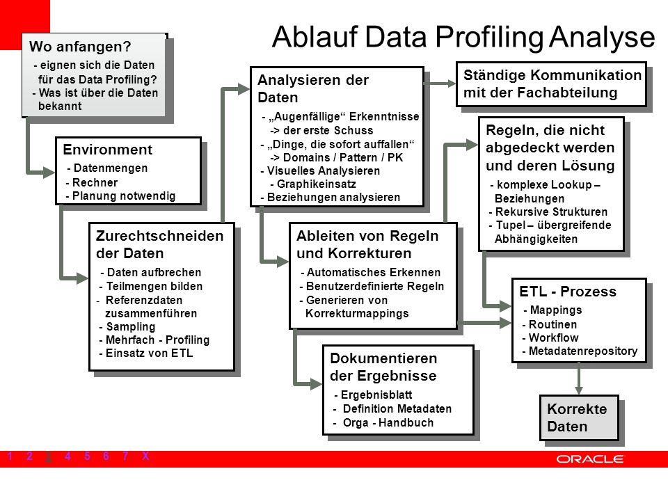 Wo anfangen? - eignen sich die Daten für das Data Profiling? - Was ist über die Daten bekannt Wo anfangen? - eignen sich die Daten für das Data Profil
