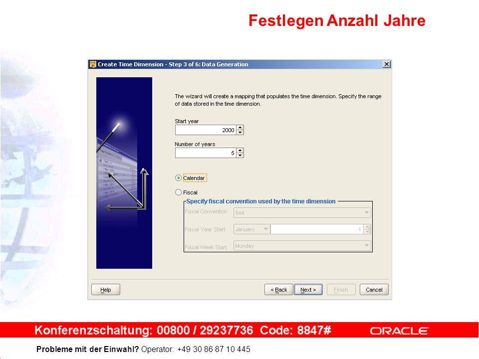 Probleme mit der Einwahl Operator: +49 30 86 87 10 445 Festlegen Anzahl Jahre