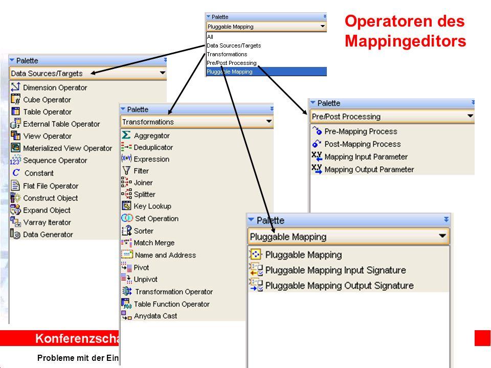 Probleme mit der Einwahl Operator: +49 30 86 87 10 445 Operatoren des Mappingeditors