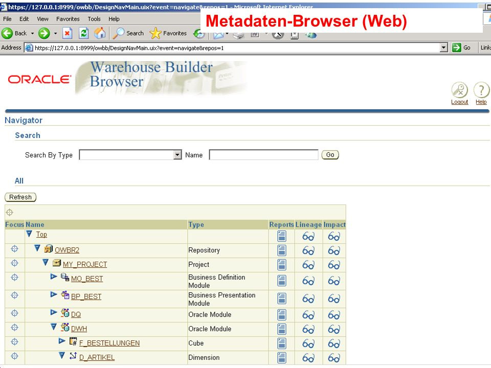 Probleme mit der Einwahl? Operator: +49 30 86 87 10 445 Metadaten-Browser (Web)