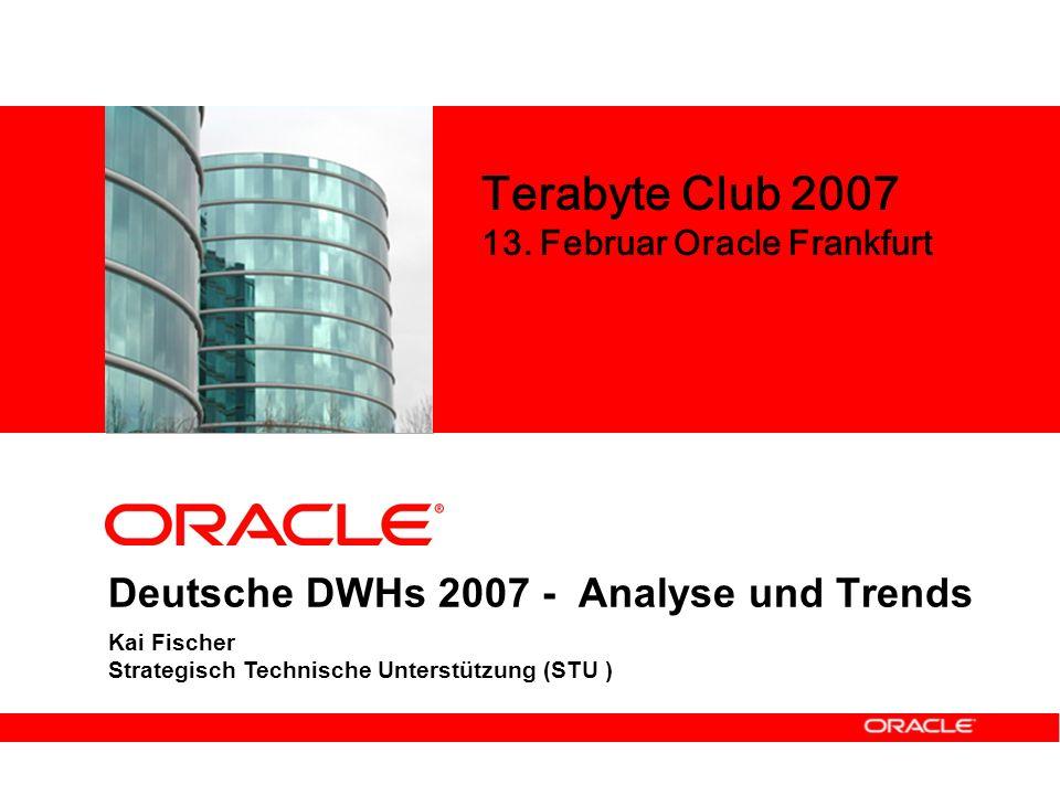 Deutsche DWHs 2007 - Analyse und Trends Kai Fischer Strategisch Technische Unterstützung (STU ) Terabyte Club 2007 13.