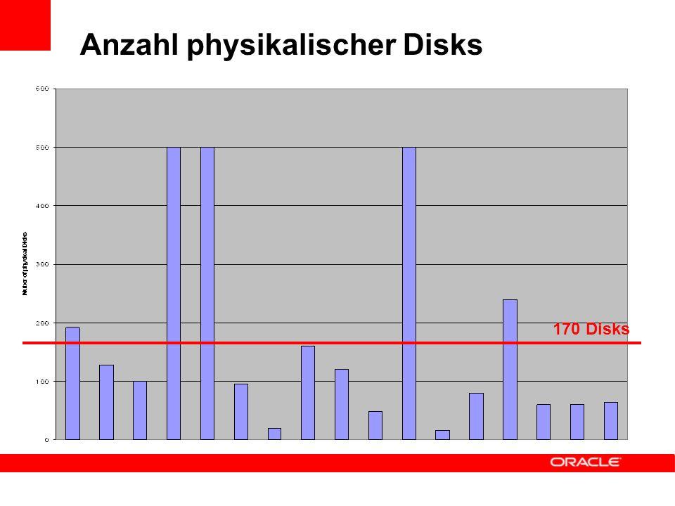 Anzahl physikalischer Disks 170 Disks