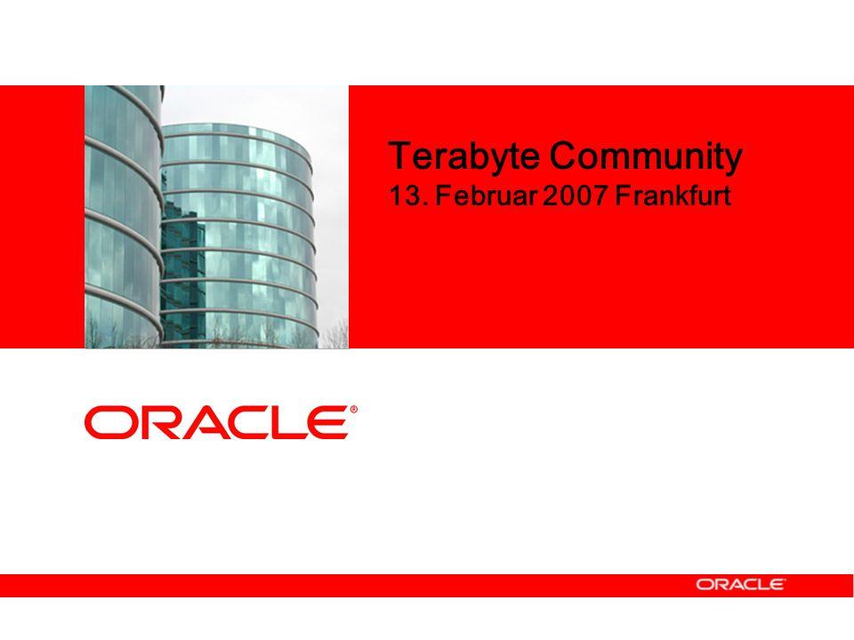 Terabyte Community 13. Februar 2007 Frankfurt