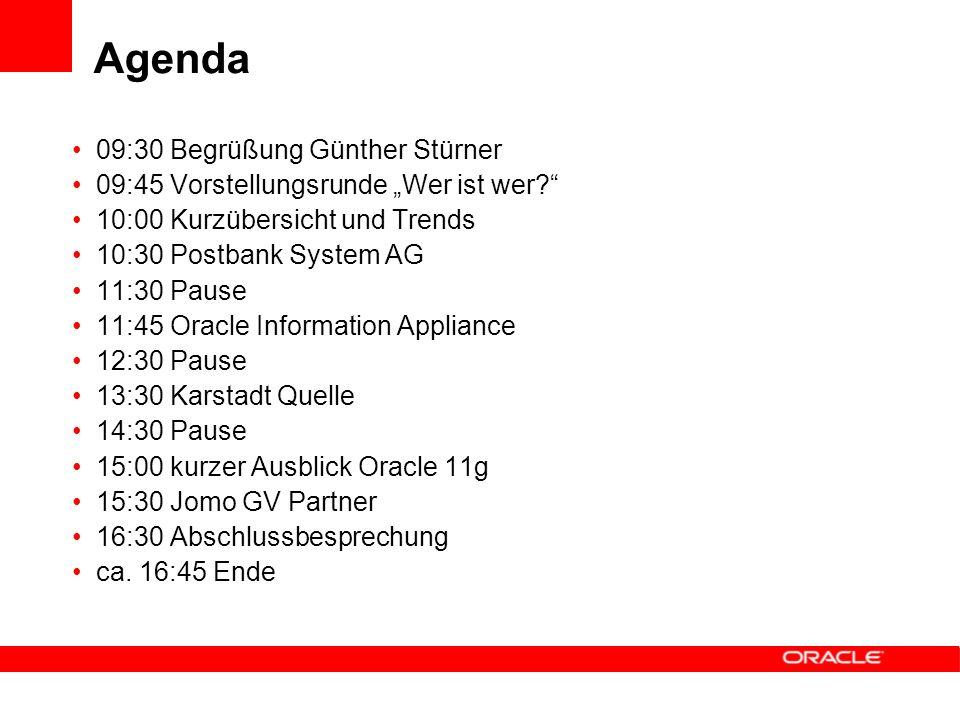 Agenda 09:30 Begrüßung Günther Stürner 09:45 Vorstellungsrunde Wer ist wer.
