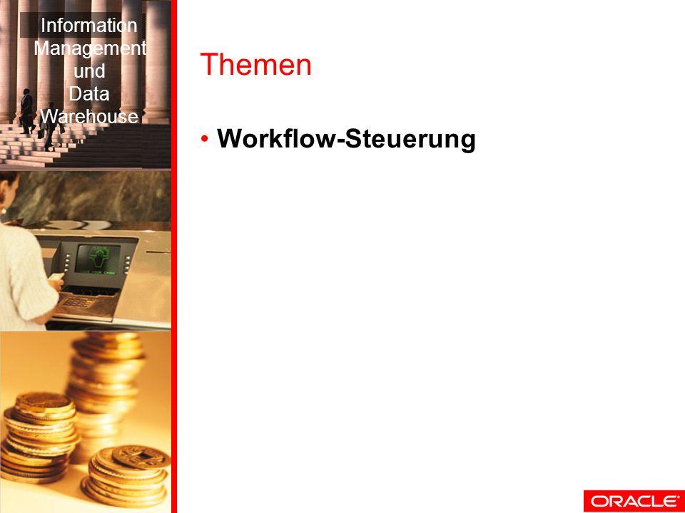 Themen Workflow-Steuerung Information Management und Data Warehouse