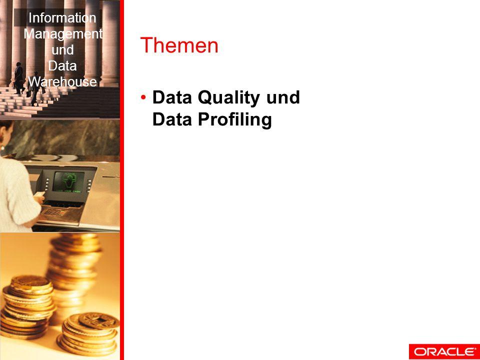 Themen Data Quality und Data Profiling Information Management und Data Warehouse
