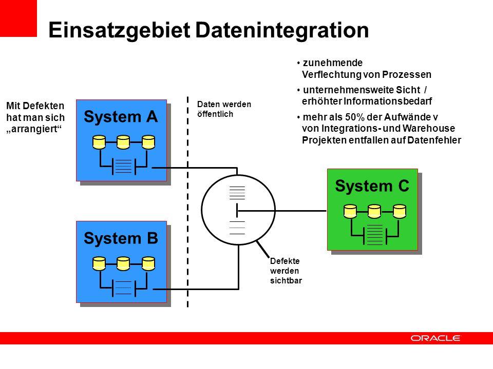 Daten werden öffentlich Einsatzgebiet Datenintegration System A System B System C Mit Defekten hat man sich arrangiert zunehmende Verflechtung von Pro