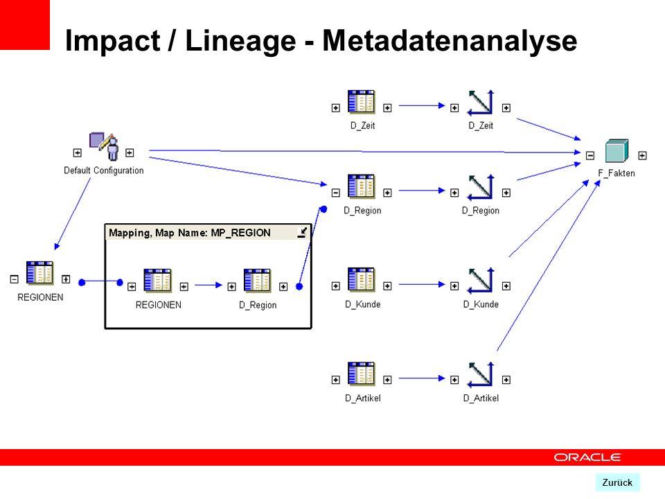 Zurück Impact / Lineage - Metadatenanalyse