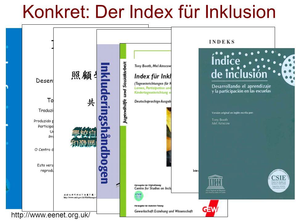 http://www.eenet.org.uk/ Konkret: Der Index für Inklusion