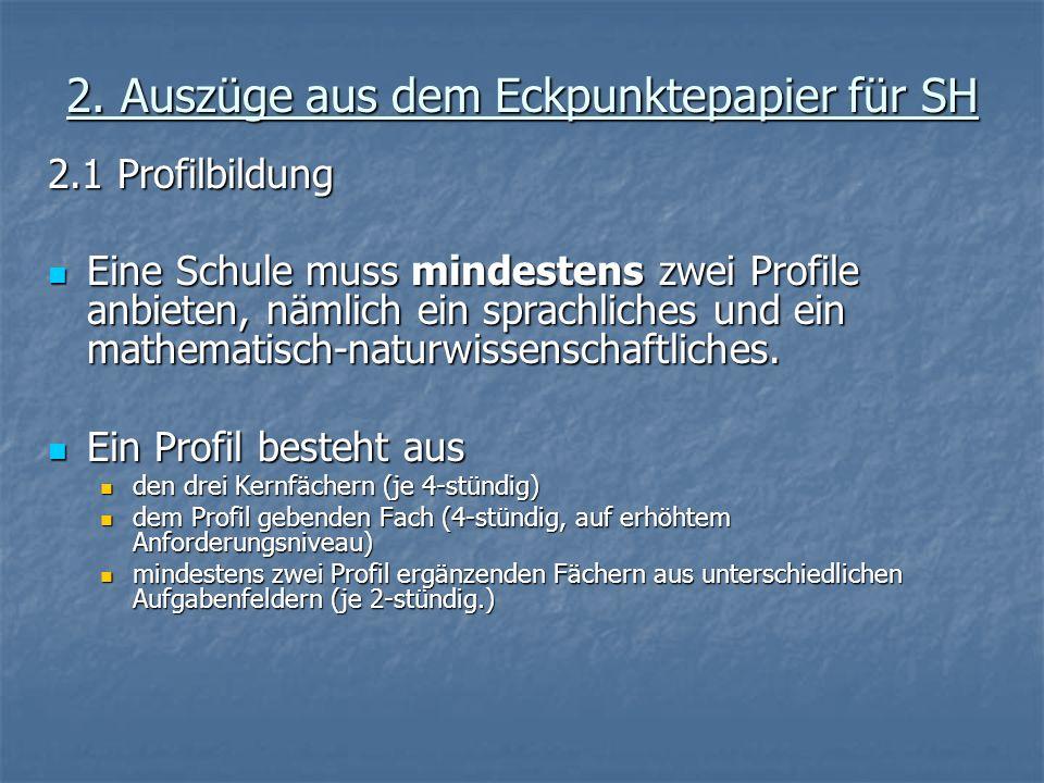 2.2 Die 5 Abiturprüfungen: 1.