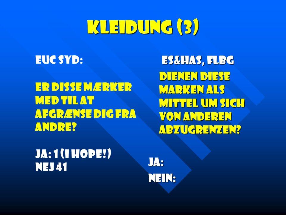Kleidung (3) Euc Syd: Er disse mærker med til at afgrænse dig fra andre.