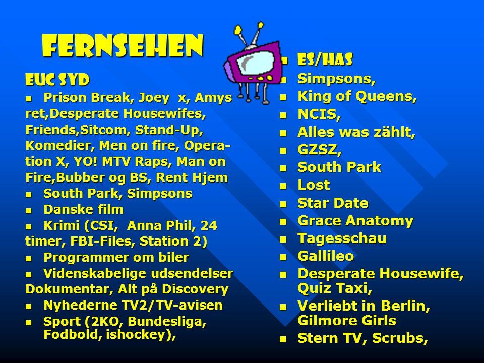 Fernsehen EUC Syd Prison Break, Joey x, Amys Prison Break, Joey x, Amys ret,Desperate Housewifes, Friends,Sitcom, Stand-Up, Komedier, Men on fire, Opera- tion X, YO.