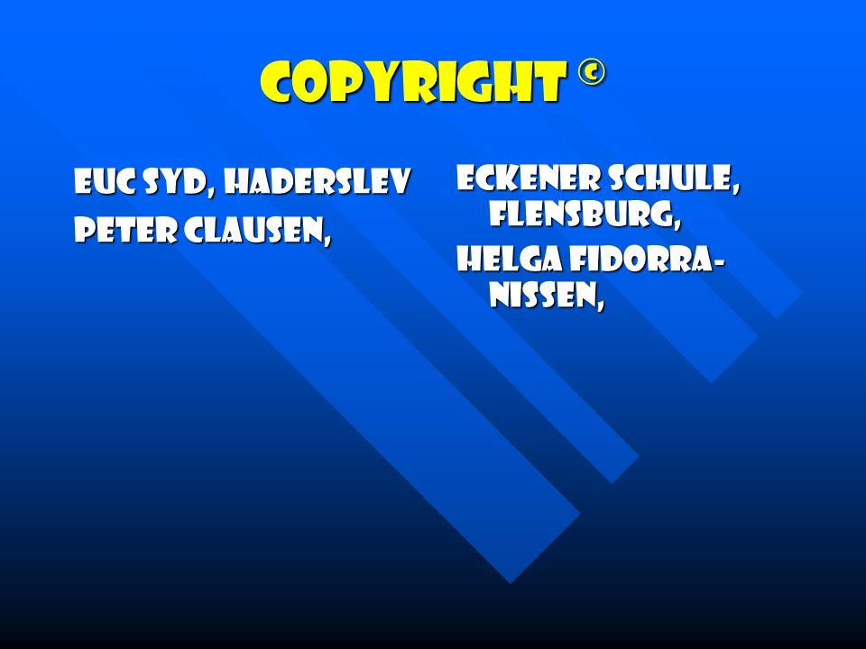 Copyright © EUC Syd, Haderslev Peter Clausen, Eckener Schule, Flensburg, Helga Fidorra- Nissen,