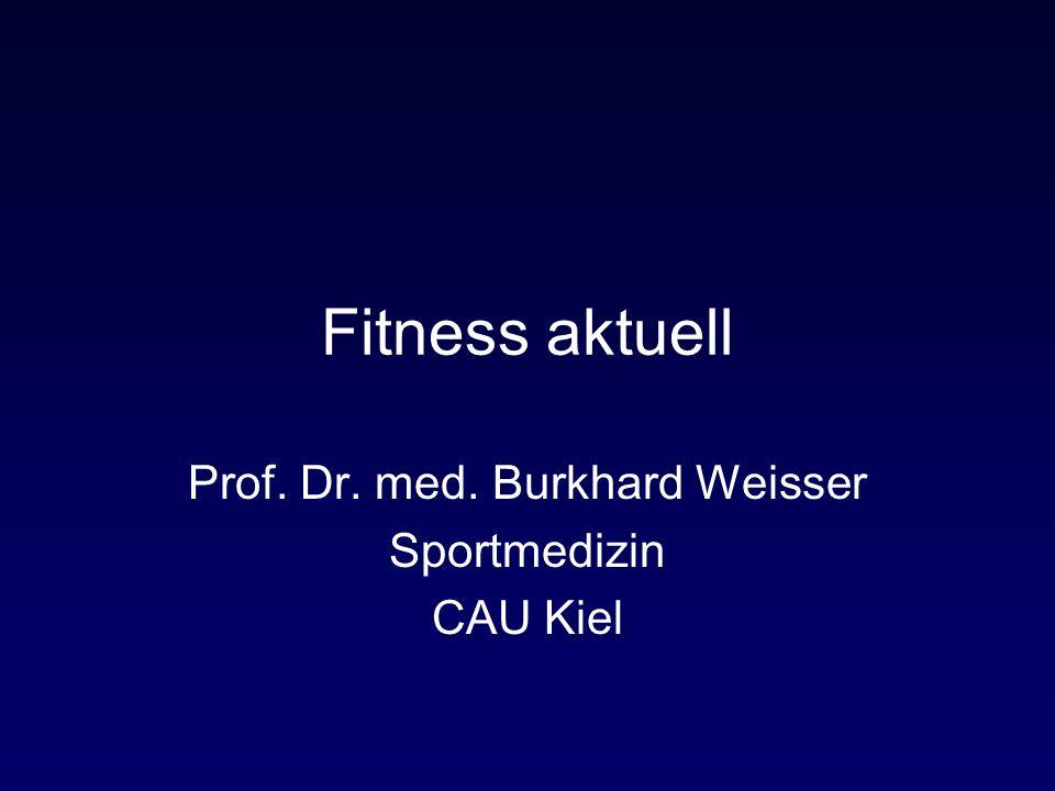 Fitness aktuell Prof. Dr. med. Burkhard Weisser Sportmedizin CAU Kiel