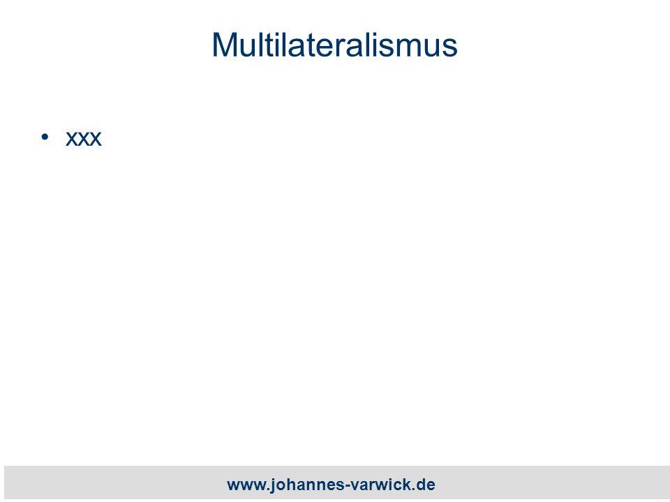www.johannes-varwick.de Multilateralismus xxx