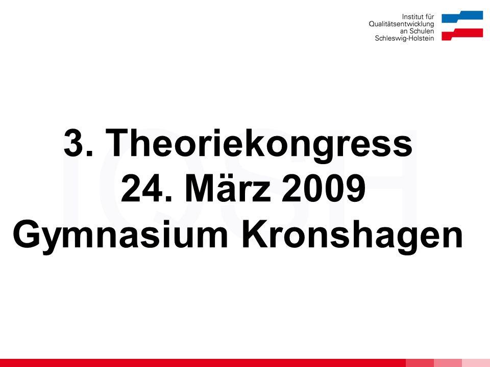 IQSH 3. Theoriekongress 24. März 2009 Gymnasium Kronshagen