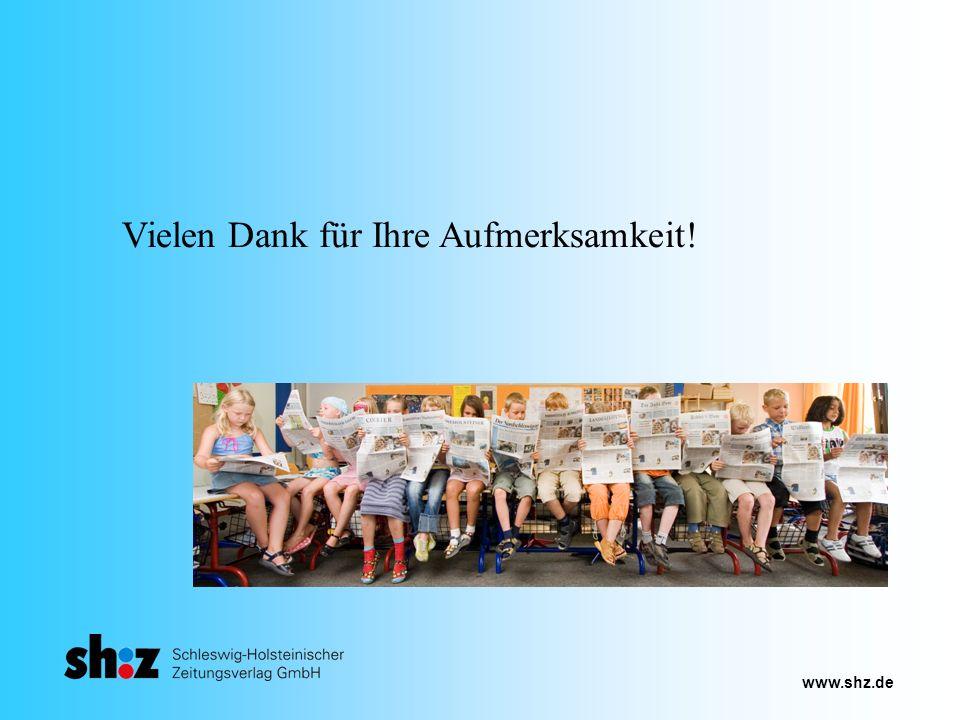 www.shz.de Vielen Dank für Ihre Aufmerksamkeit!