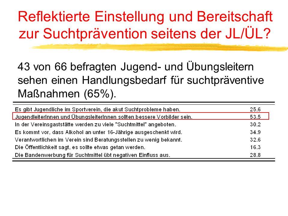 Anlässe für Mehrkonsum an Alkohol und Nikotin bei JL und ÜL
